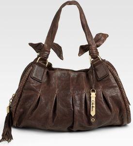 Cole Haan Brown Phoebe Triple Zip Satchel Handbag